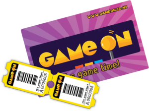 tickets and game on card